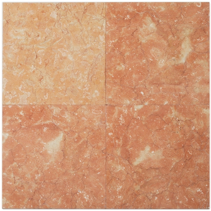 Big Pacific 12-in x 12-in Dry Rose Marble Floor Tile