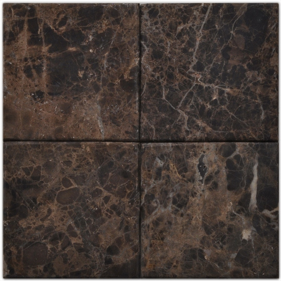 Big Pacific 6-in x 6-in Emperador Dark Marble Floor Tile
