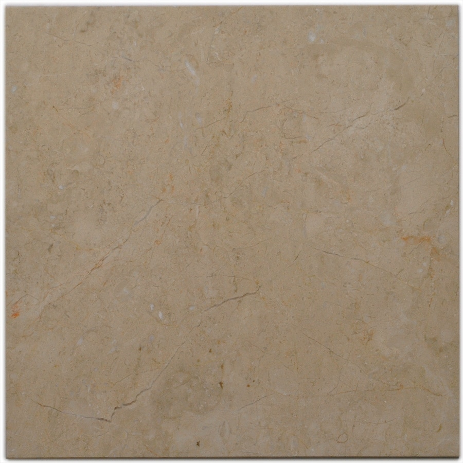 Big Pacific 18-in x 18-in Sandy Beige Marble Floor Tile