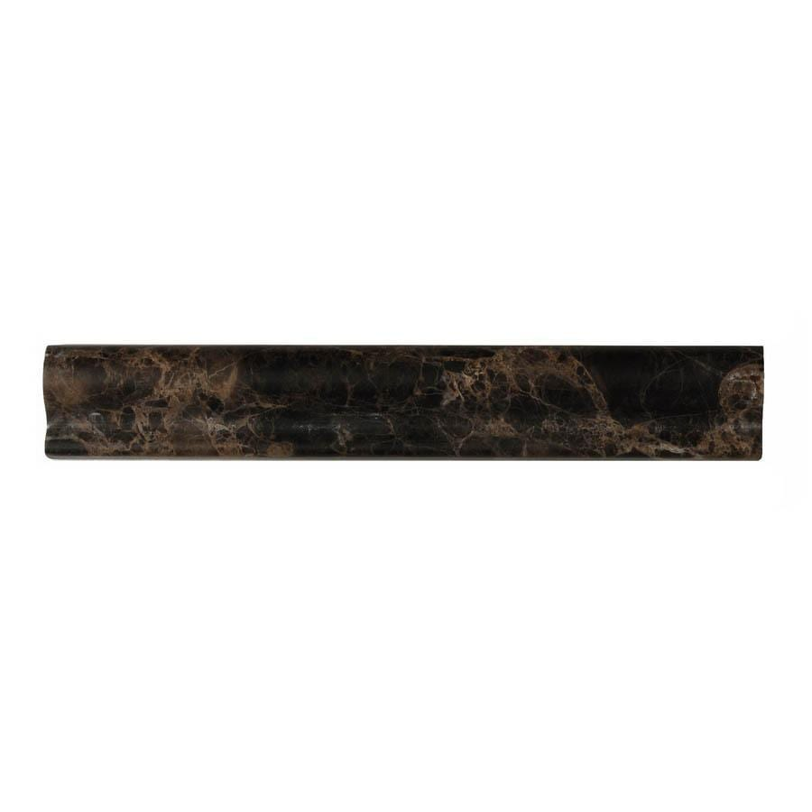 Big Pacific 1-3/4-in x 12-in Emperador Dark Marble Wall Tile