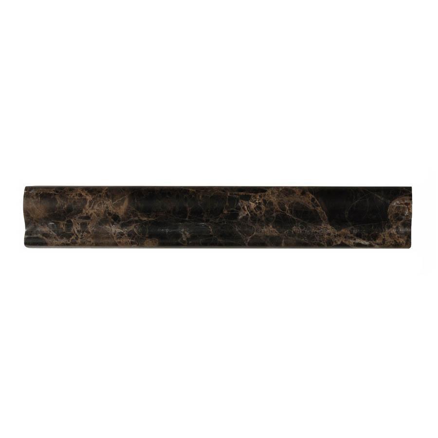Big Pacific 1-3/4-in x 12-in Emperador Dark Marble Wall Tile
