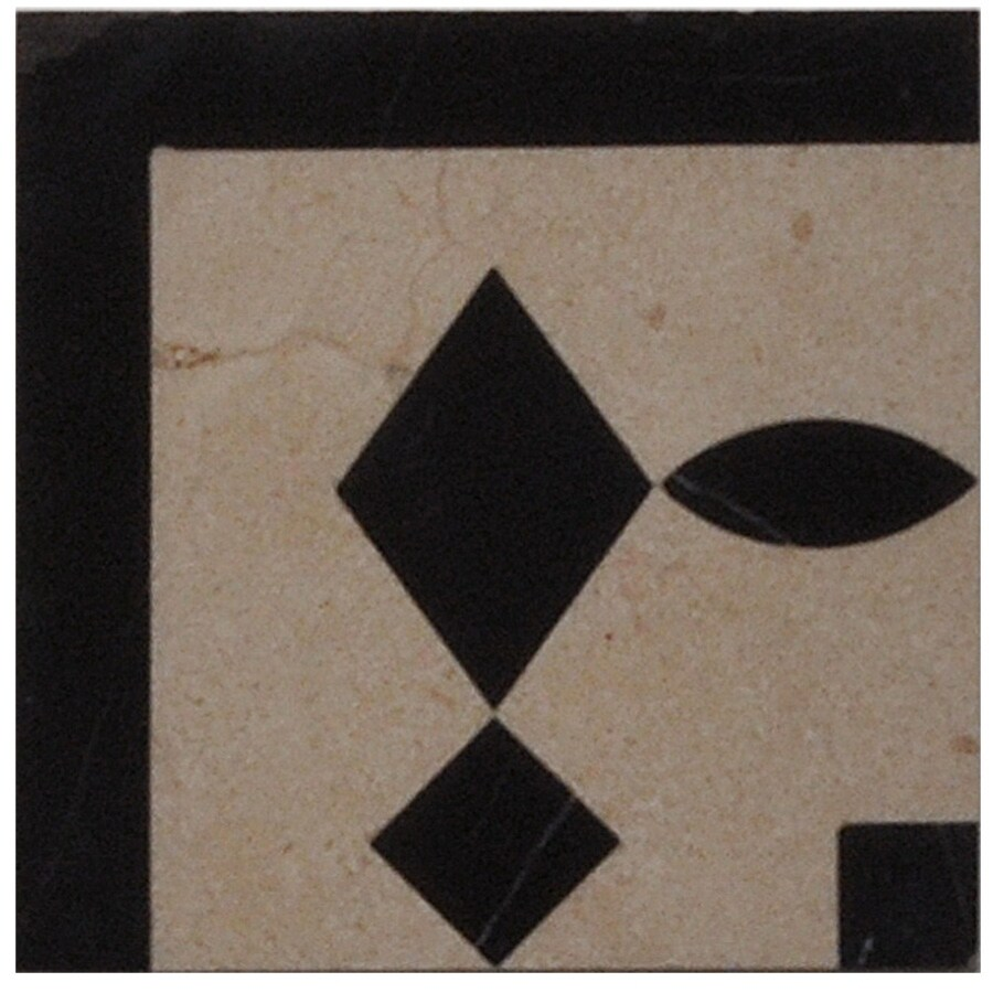 Big Pacific 4-in x 12-in Crema Marfil Marble Floor Tile