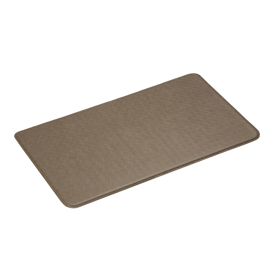 Imprint Mocha Anti-Fatigue Mat (Common: 2-ft x 6-ft; Actual: 26-in x 72-in)