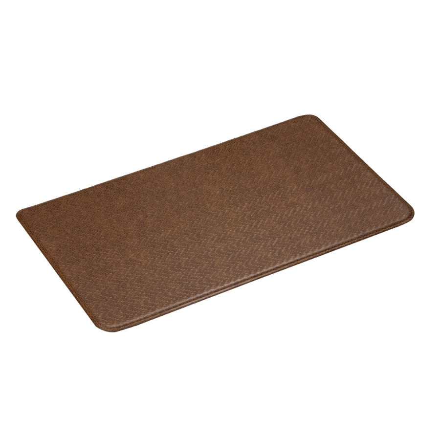 Imprint Toffee Brown Anti-Fatigue Mat (Common: 2-ft x 6-ft; Actual: 26-in x 72-in)