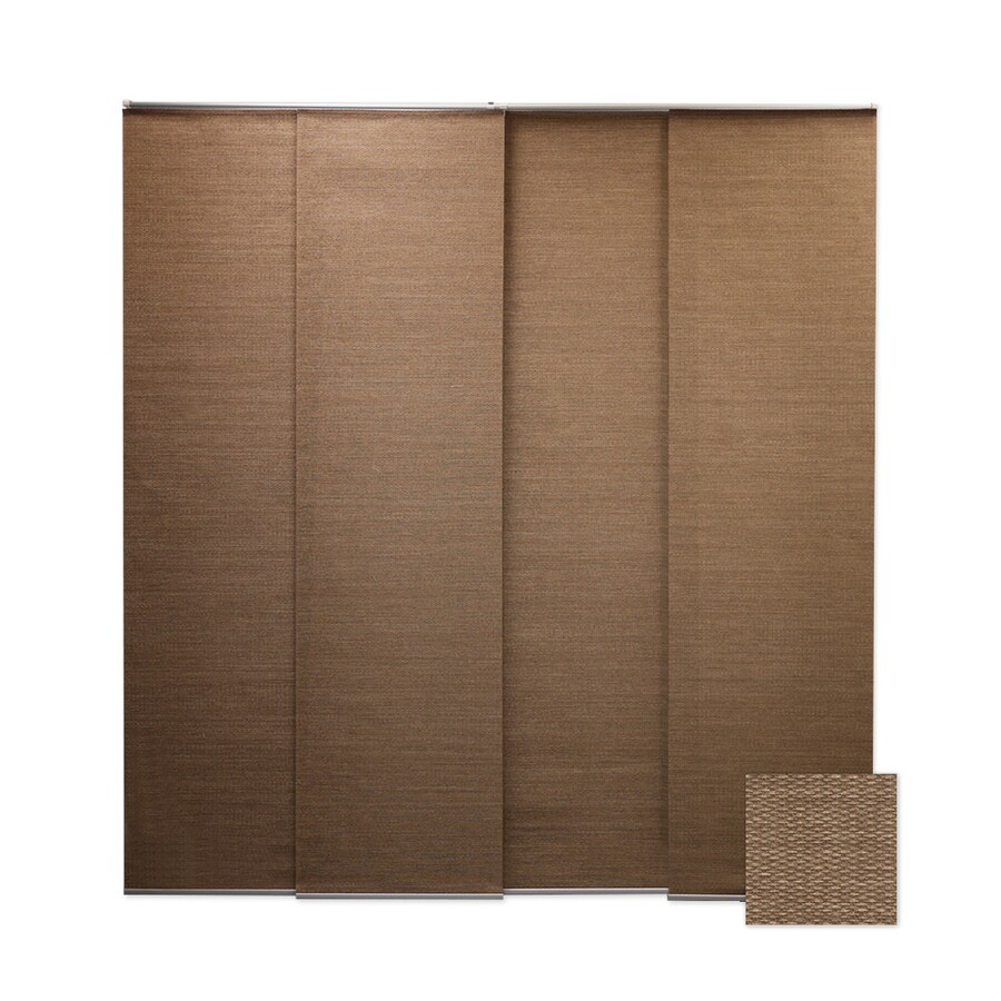 Chicology Brown Light Filtering Cordless Paper Panel Shade (Common 80-in; Actual: 80-in x 96-in)