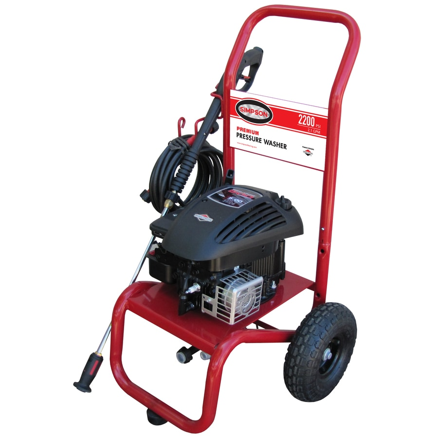 SIMPSON 2200-PSI 2.1-GPM Water Gas Pressure Washer