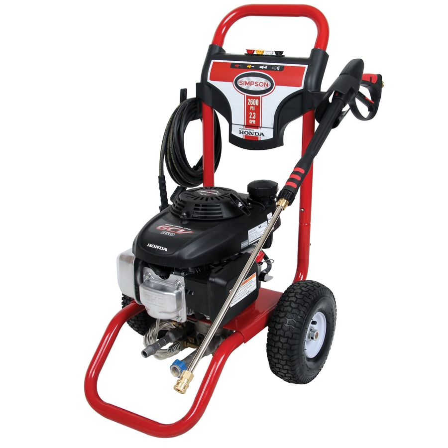 SIMPSON 2600-PSI 2.3-GPM Water Gas Pressure Washer
