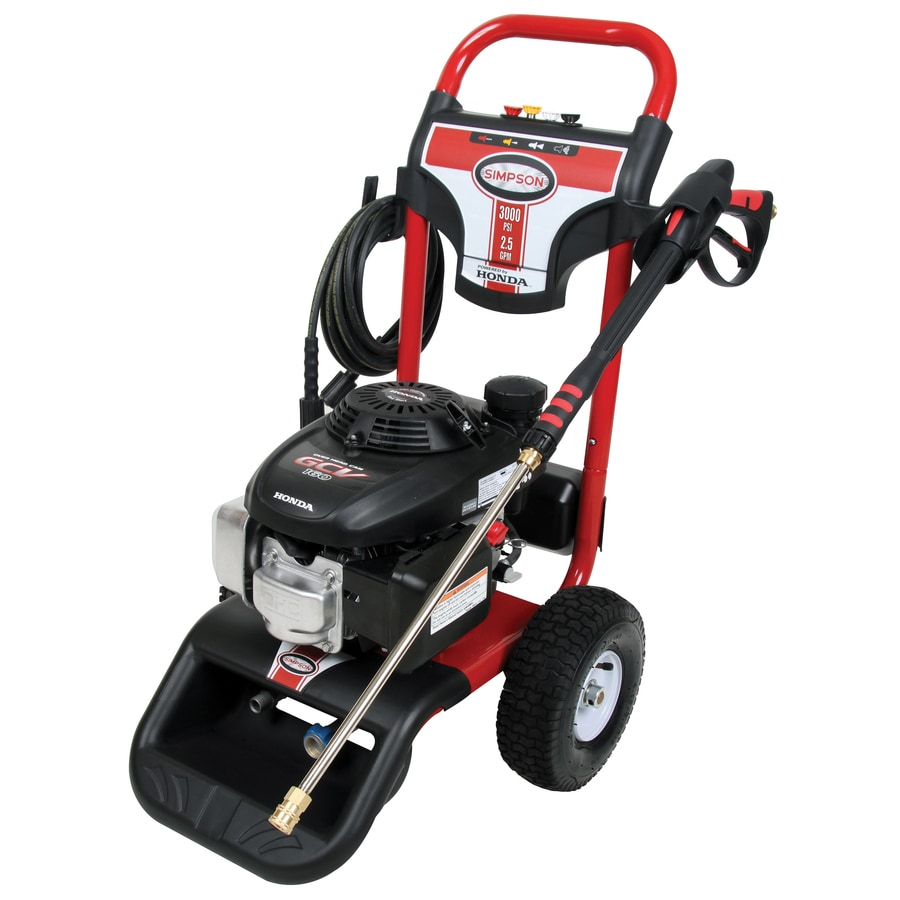 SIMPSON 3000-PSI 2.5-GPM Water Gas Pressure Washer
