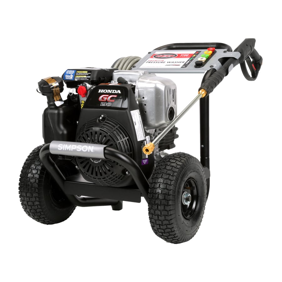 SIMPSON MegaShot 3100-PSI 2.5-GPM Cold Water Gas Pressure Washer