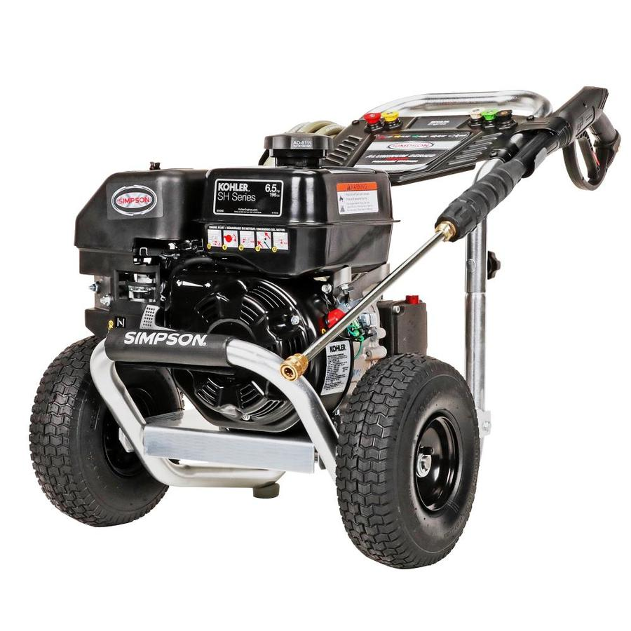 SIMPSON Aluminum 3200-PSI 2.5-GPM Carb Compliant Water Gas Pressure Washer