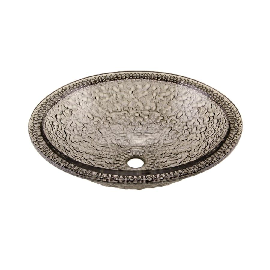 Oceana Sinks : JSG Oceana Pebble Black Nickel Glass Oval Bathroom Sink with Overflow