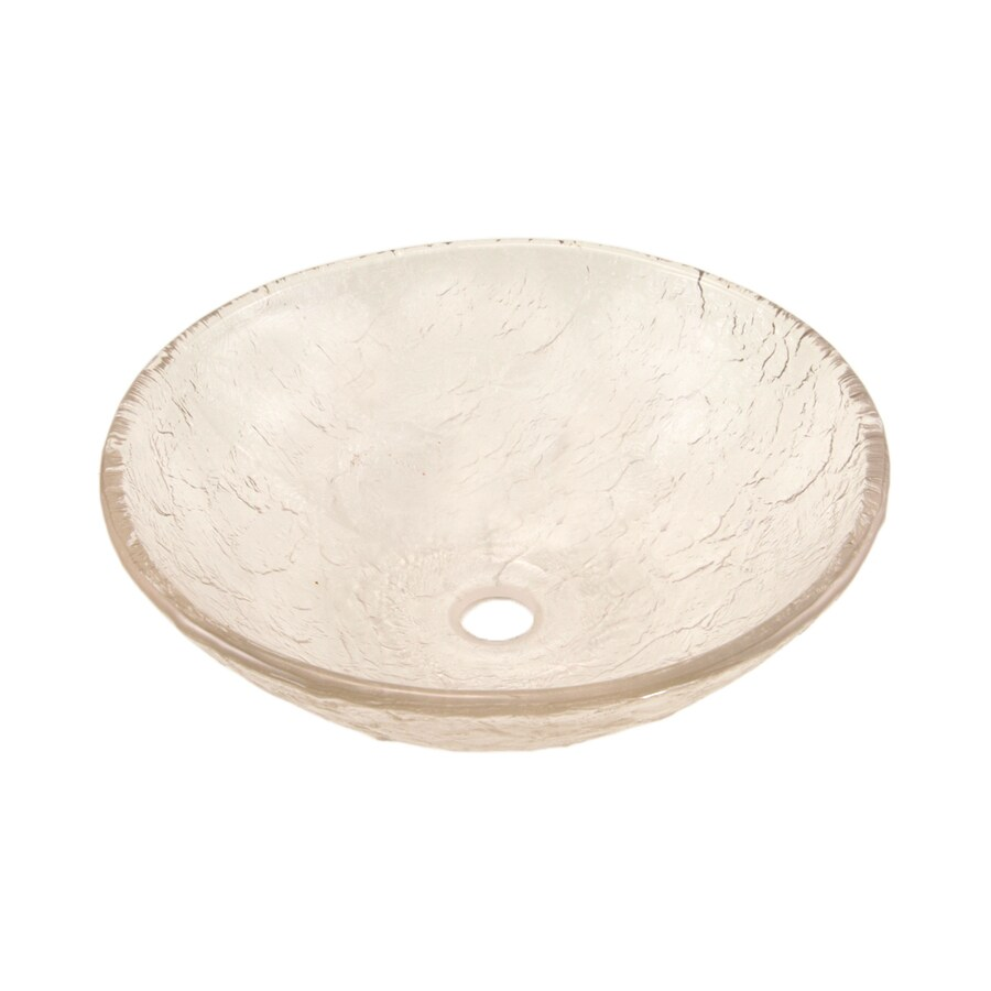 JSG Oceana Crystal Glass Vessel Round Bathroom Sink