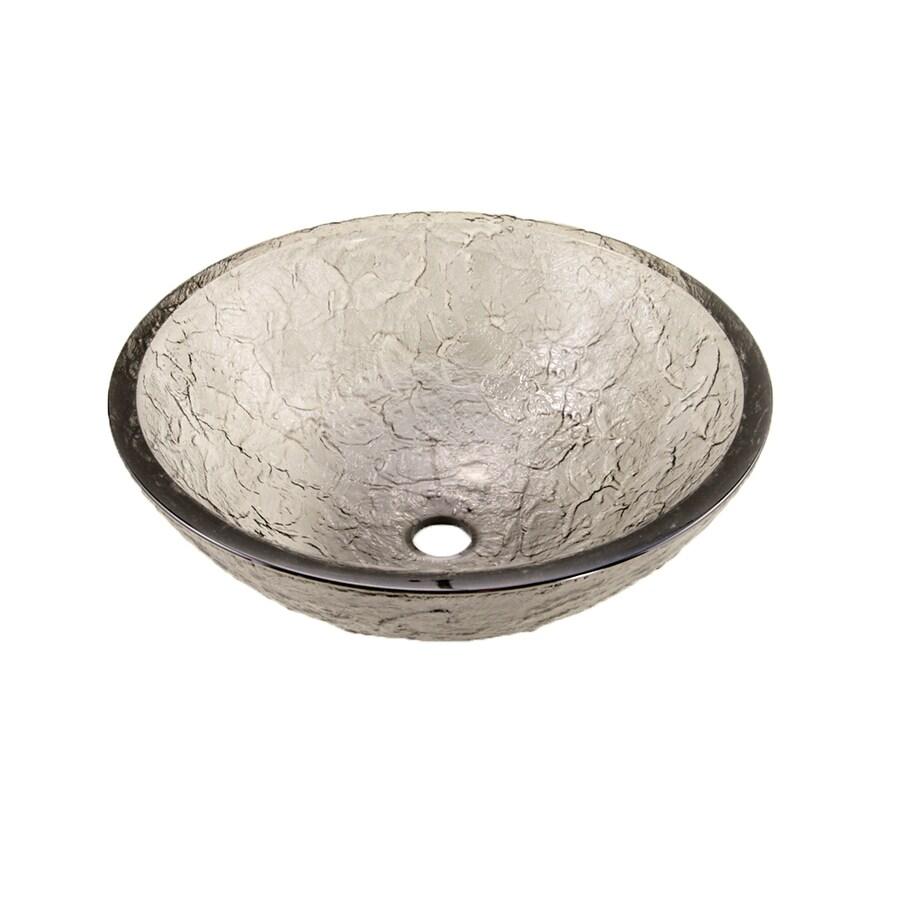 JSG Oceana Black Nickel Glass Vessel Round Bathroom Sink