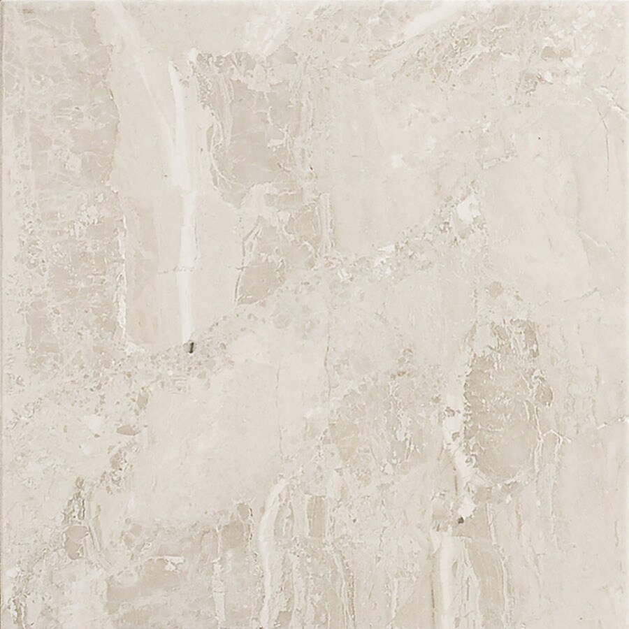 Bermar Natural Stone Royal Beige Antiqued Marble Floor and Wall Tile (Common: 18-in x 18-in; Actual: 18-in x 18-in)