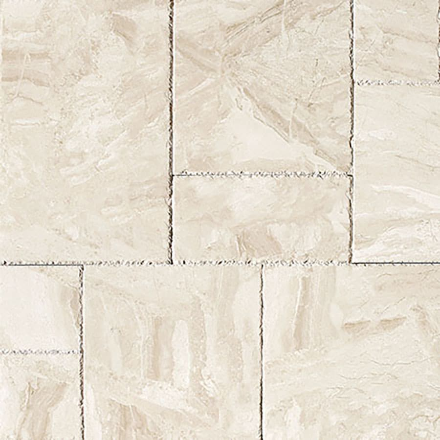 Bermar Natural Stone Royal Beige Brushed Chiseled Marble Floor and Wall Tile (Common: 24-in x 48-in; Actual: 24-in x 48-in)