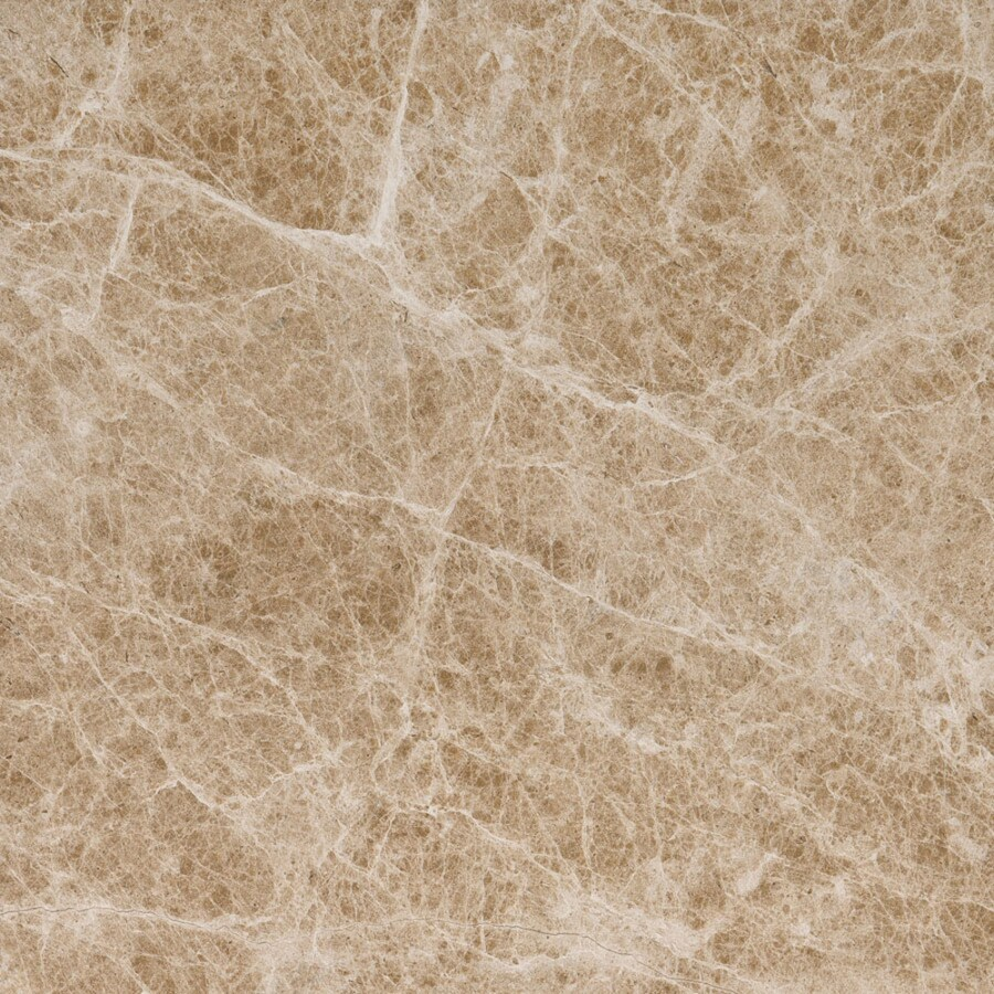 Bermar Natural Stone Emperador Light Polished Marble Floor and Wall Tile (Common: 12-in x 12-in; Actual: 12-in x 12-in)