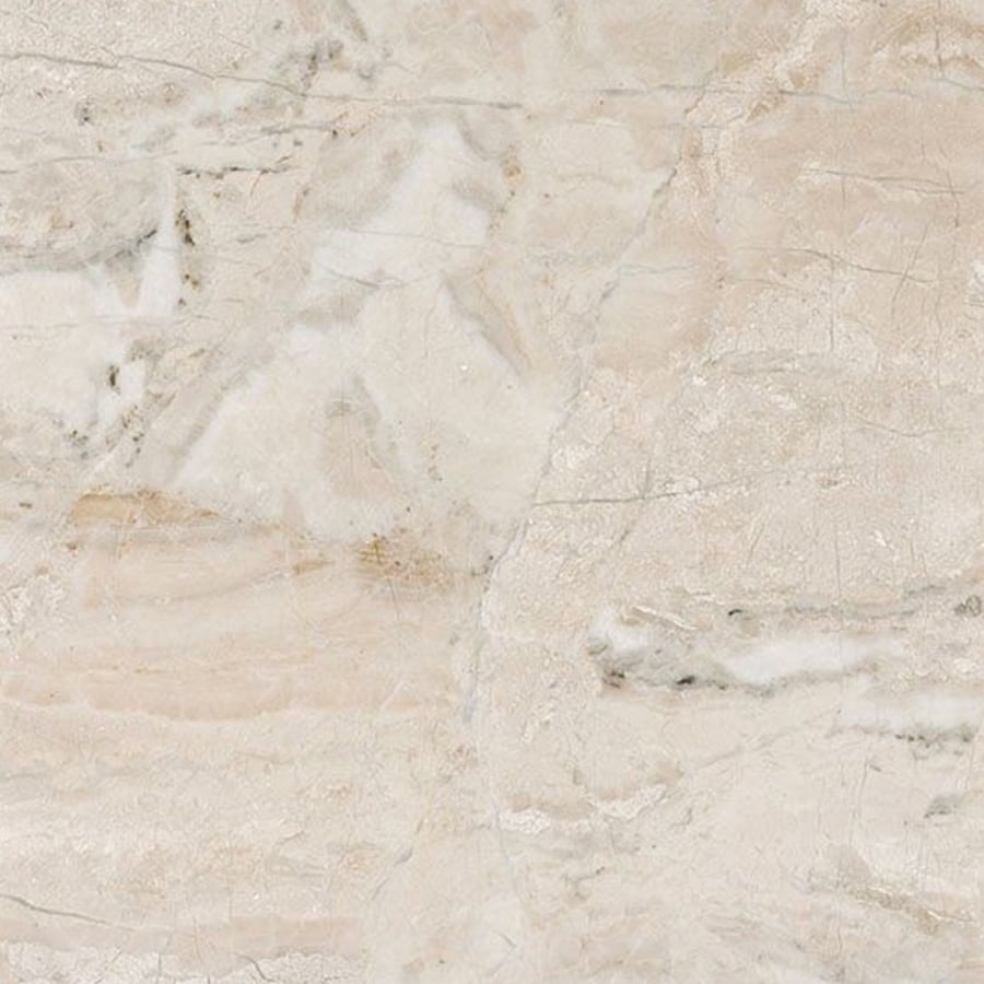 Shop Bermar Natural Stone Royal Beige Honed Marble Floor And Wall Tile Common 12 In X 12 In
