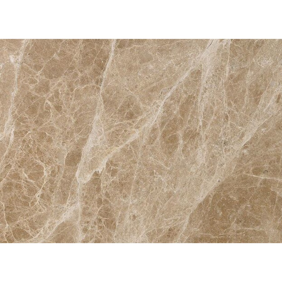 Bermar Natural Stone Emperador Light Polished Marble Floor and Wall Tile (Common: 12-in x 24-in; Actual: 12-in x 24-in)