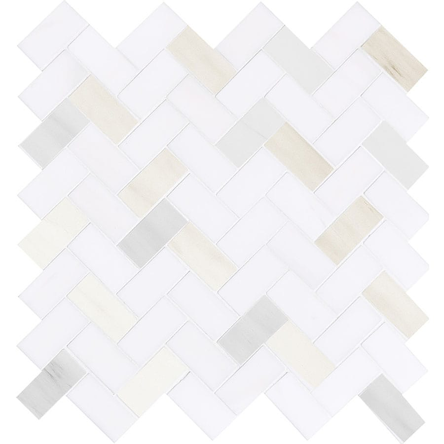Bermar Natural Stone Izmir Polished Marble Floor and Wall Tile (Common: 12-in x 12-in; Actual: 11-in x 11-in)