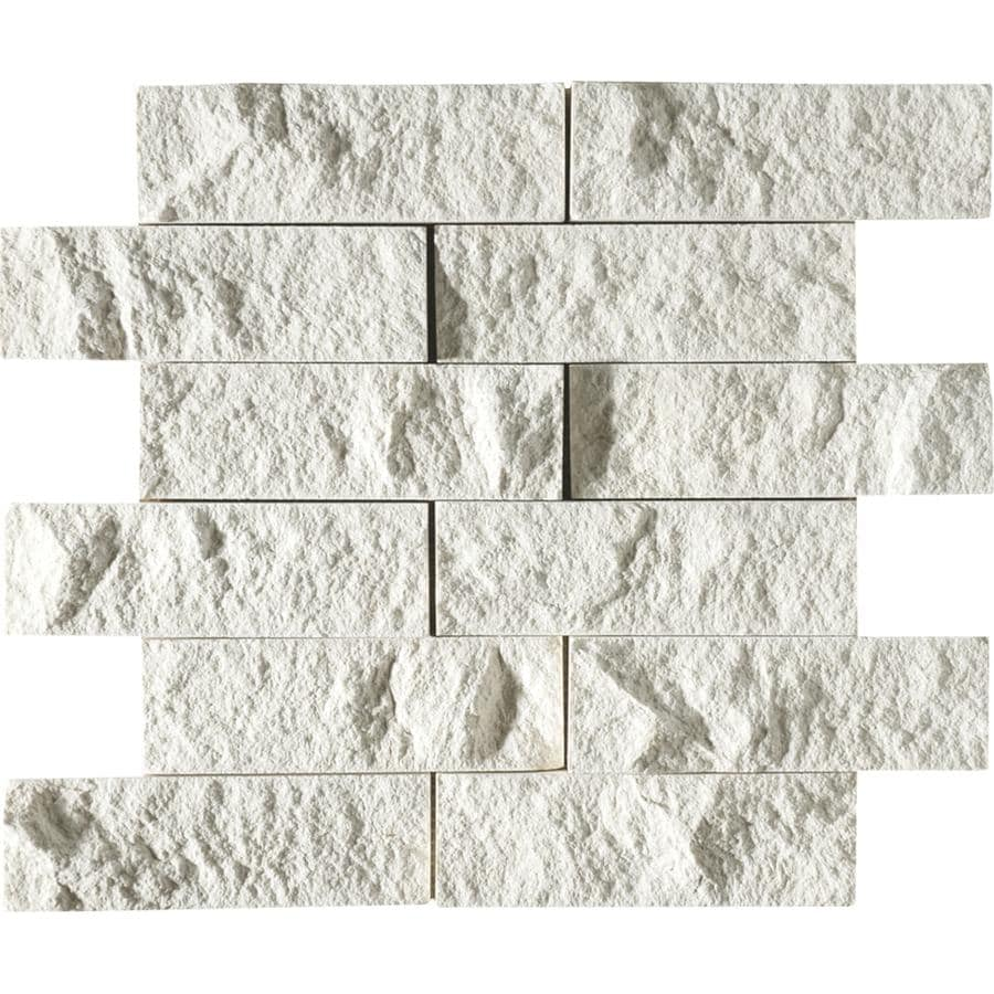 Bermar Natural Stone Cottonwood Rock Face Limestone Floor and Wall Tile (Common: 12-in x 12-in; Actual: 11.75-in x 12-in)