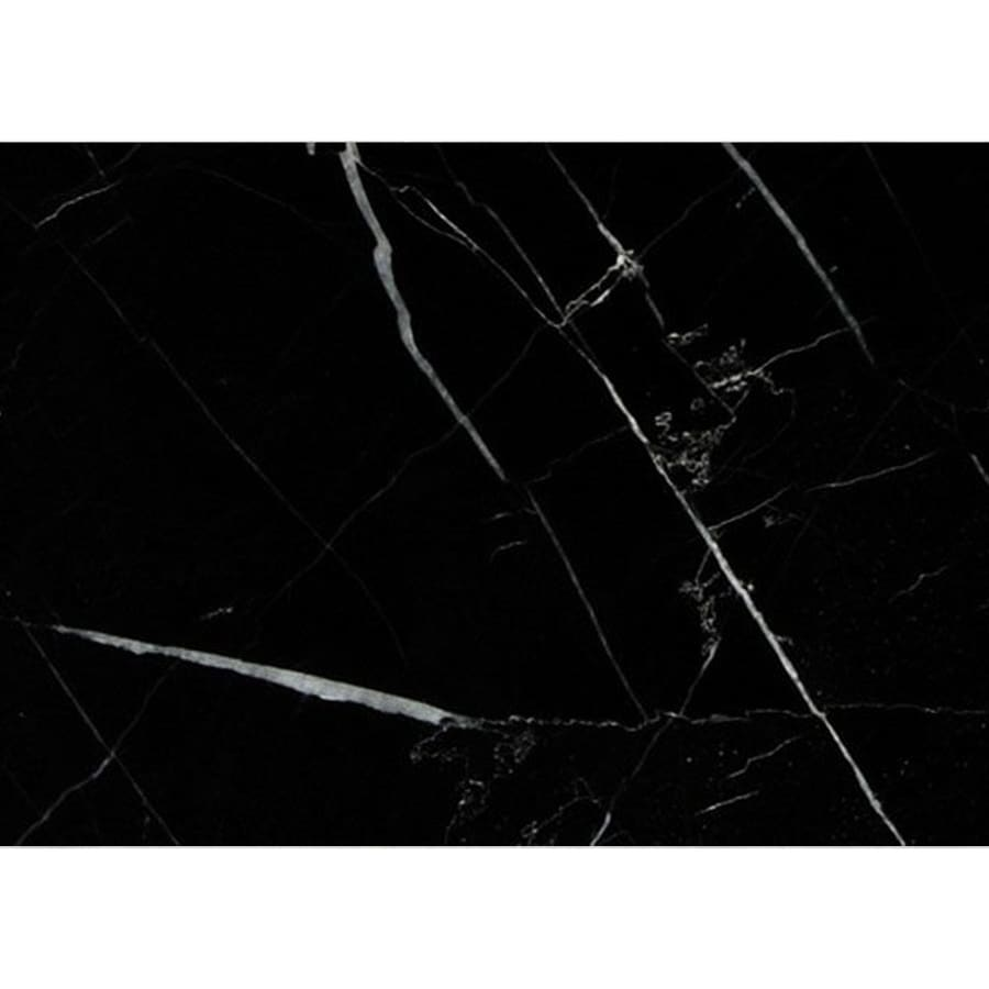 Bermar Natural Stone Black Marble Polished Marble Floor and Wall Tile (Common: 3-in x 6-in; Actual: 2.75-in x 5.5-in)
