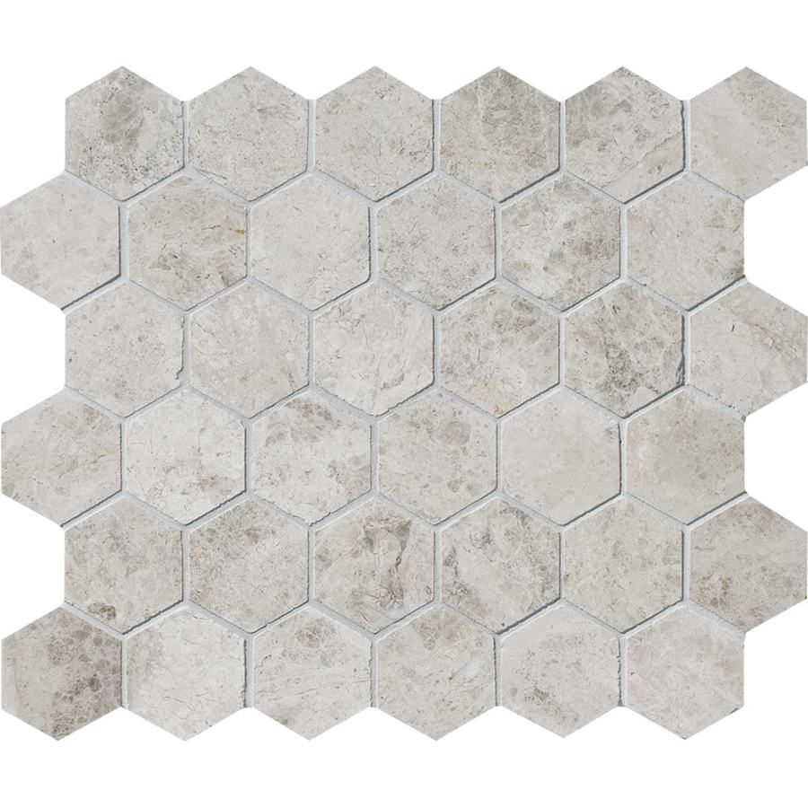 Bermar Natural Stone Silver Sky Polished Marble Floor and Wall Tile (Common: 12-in x 12-in; Actual: 10.5-in x 12-in)