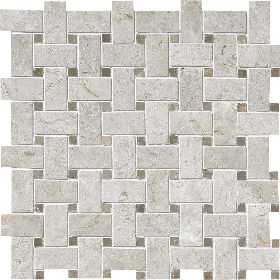 Bermar Natural Stone Silver Sky Polished Marble Floor and Wall Tile (Common: 12-in x 12-in; Actual: 12.25-in x 12.25-in)