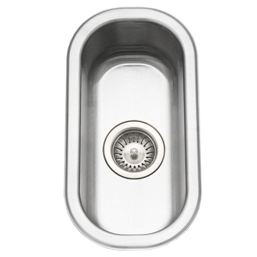 HOUZER Club Lustrous Satin Single-Basin Stainless Steel Undermount Residential Prep Sink