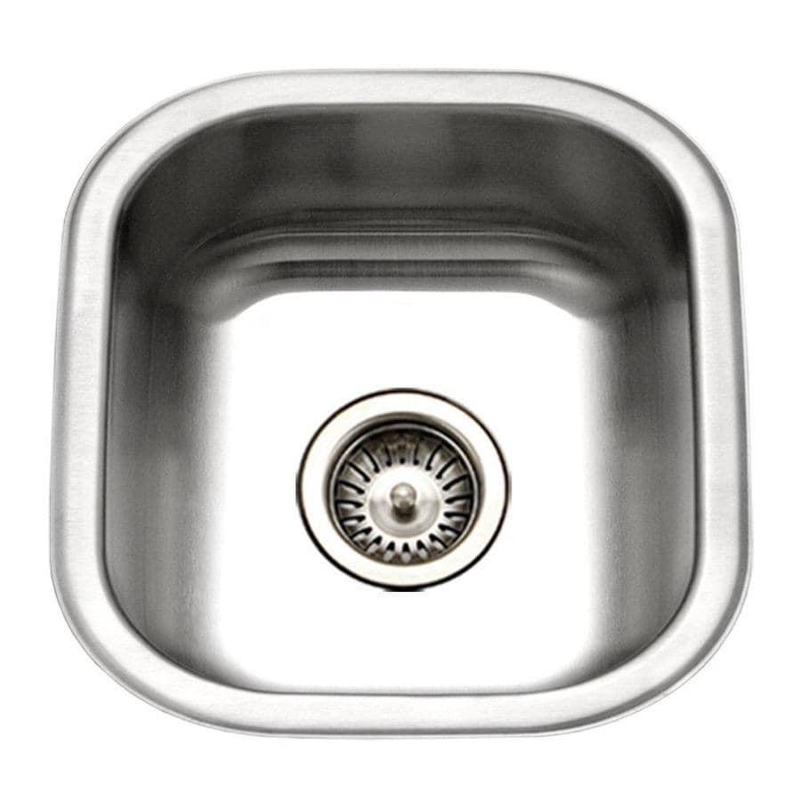 HOUZER Club Lustrous Satin Single-Basin Stainless Steel Undermount Residential Prep Sink