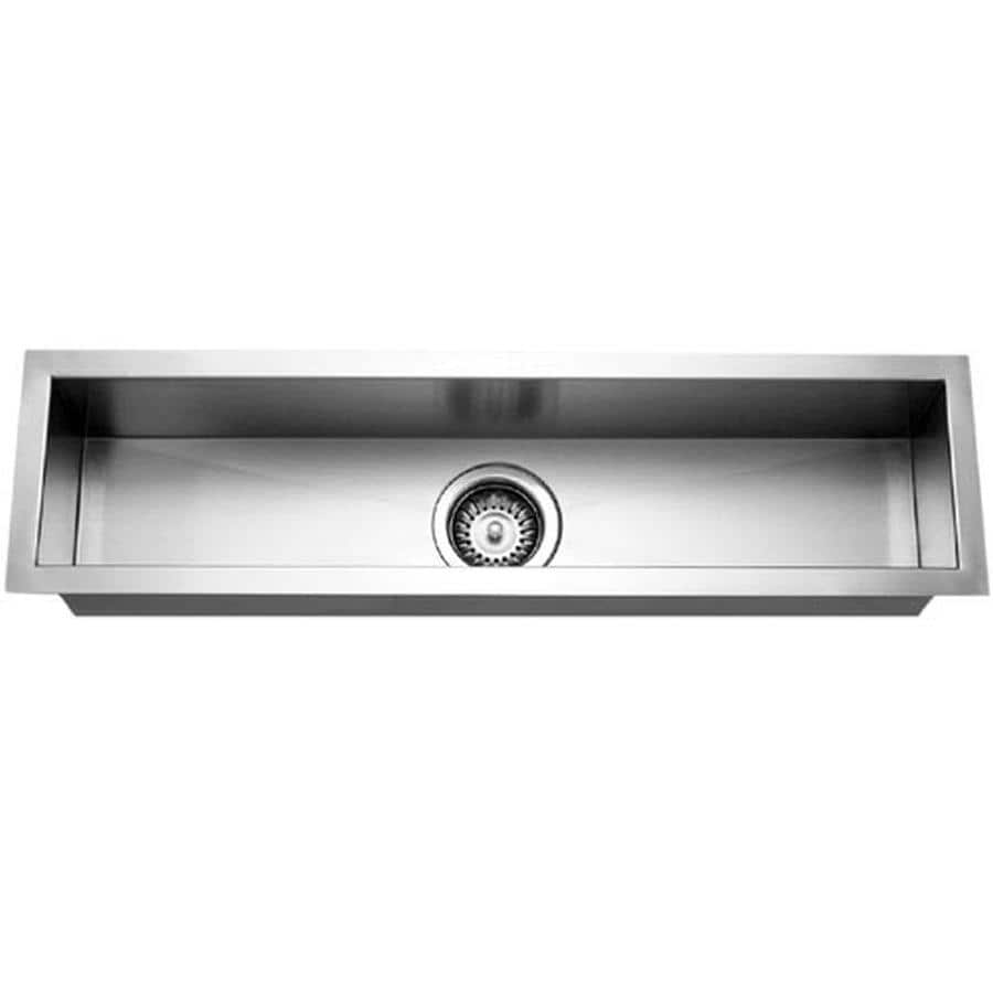 HOUZER Contempo Brushed Satin Single-Basin Stainless Steel Undermount Residential Prep Sink