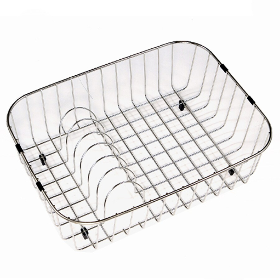 HOUZER 19.25-in W x 14.25-in L x 5.5-in H Metal Dish Rack and Drip Tray
