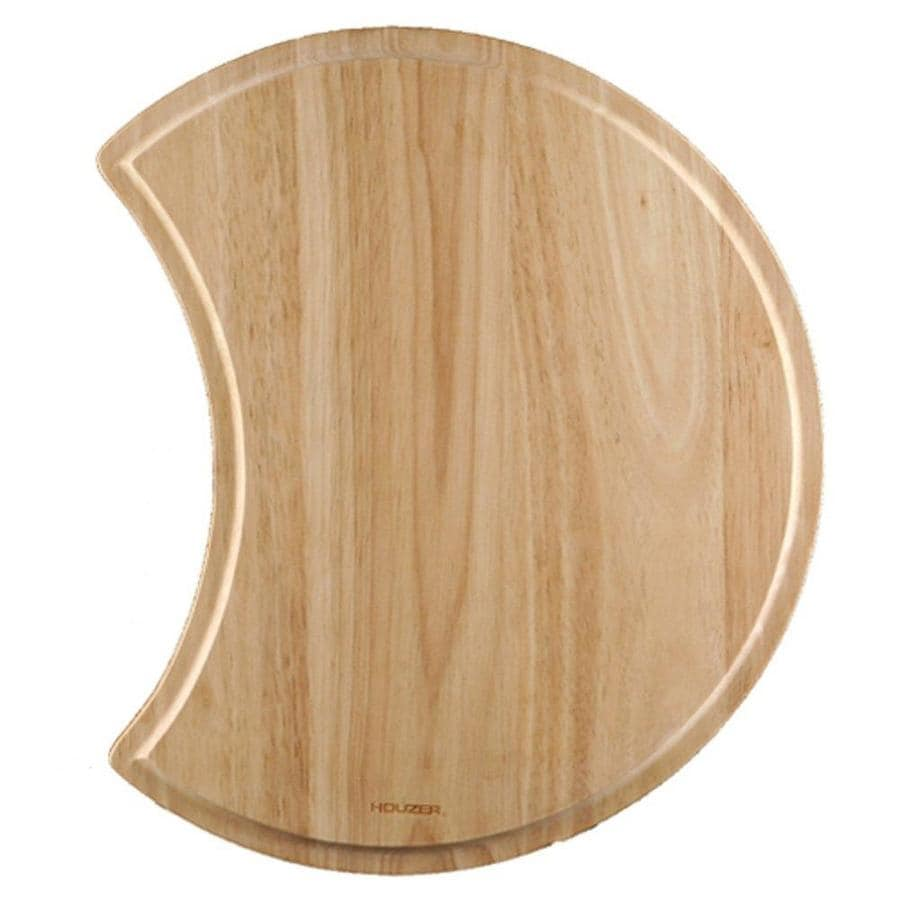 HOUZER 1 16.125-in L x 16.125-in W Wood Cutting Board