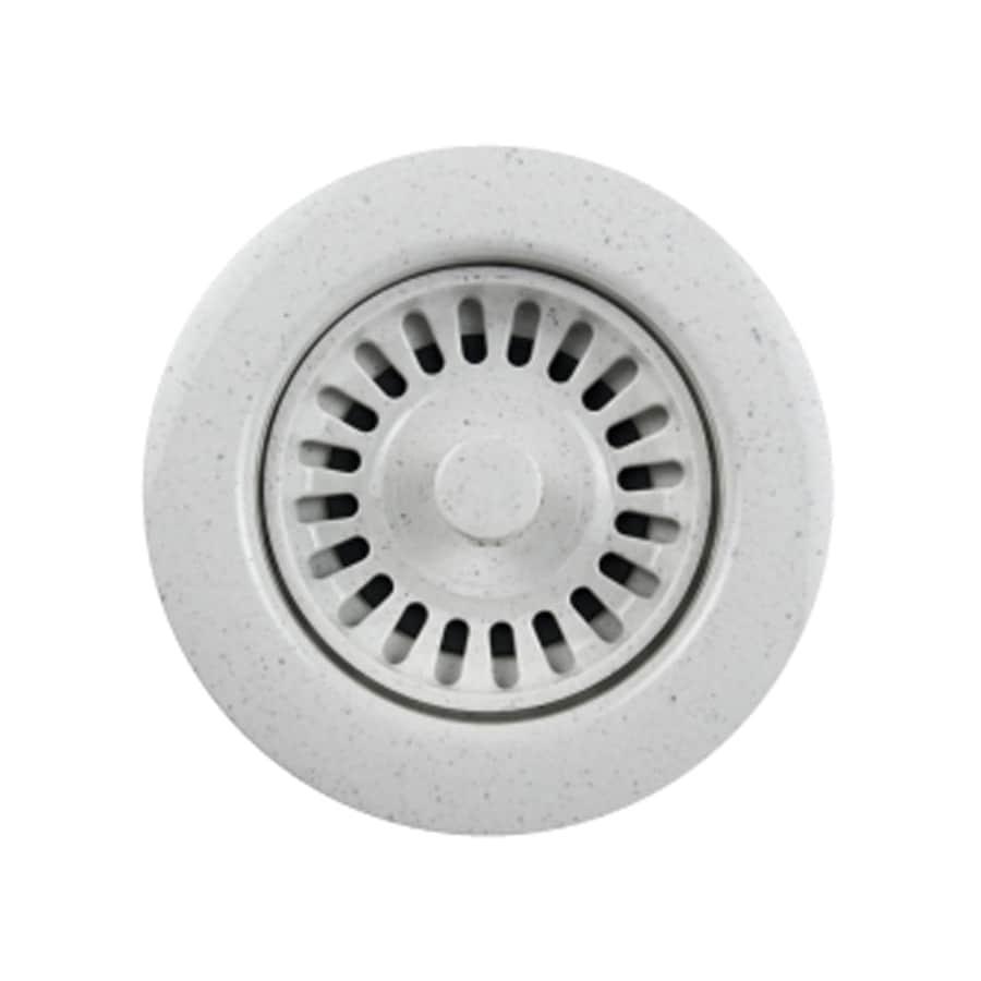 HOUZER Preferra 3.5-in Granite White Plastic Fixed Post Kitchen Sink Strainer