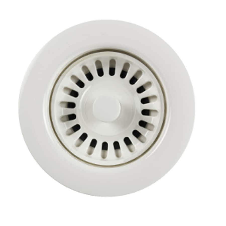 HOUZER Preferra 3.5-in Polar White Plastic Fixed Post Kitchen Sink Strainer