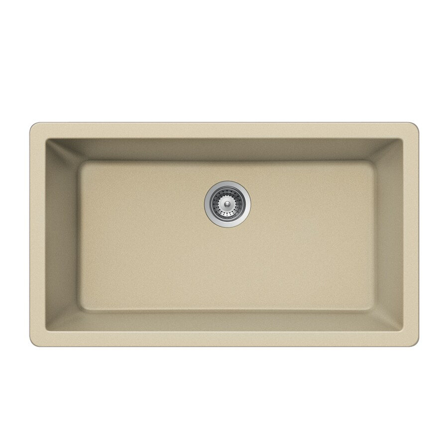 HOUZER 18-in x 33-in Colorado Single-Basin Granite Undermount Residential Kitchen Sink