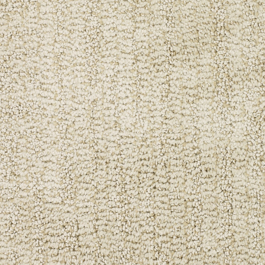 STAINMASTER TruSoft Regatta Cream/Beige/Almond Cut and Loop Indoor Carpet