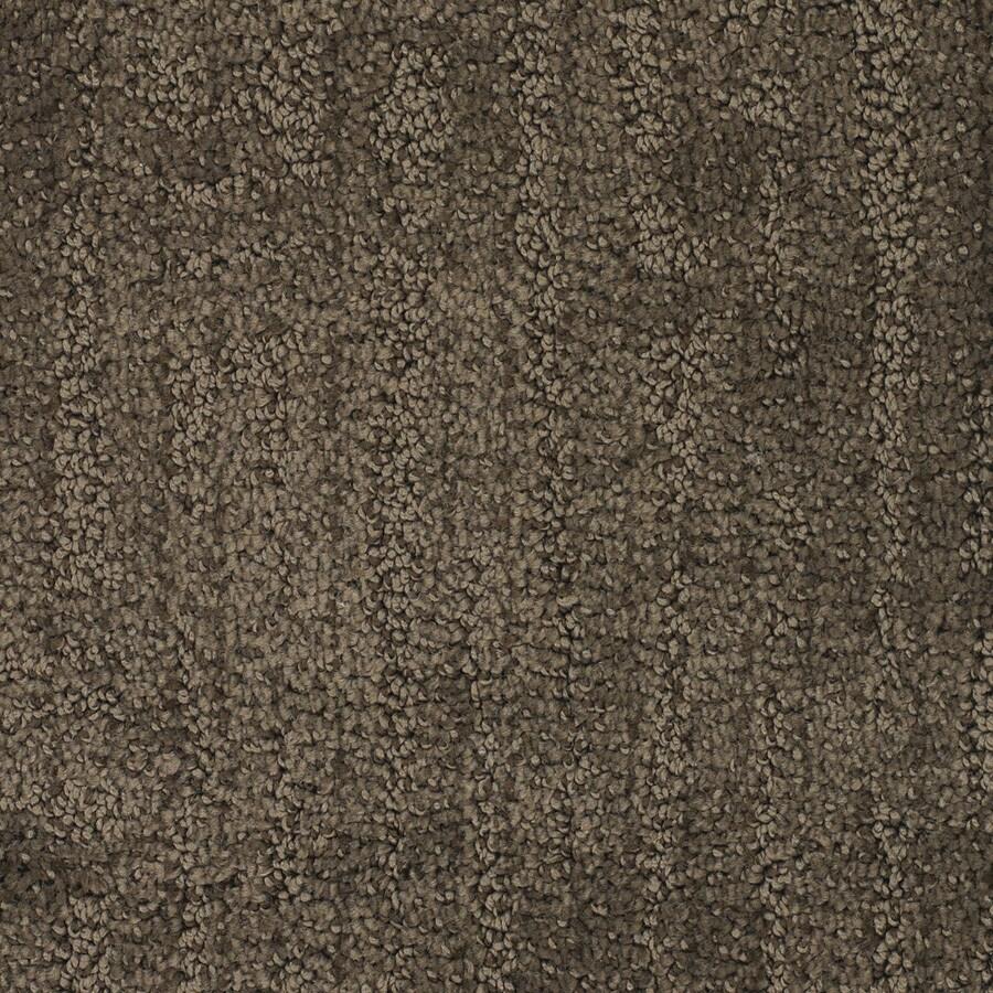 STAINMASTER TruSoft Regatta Brown/Tan Cut and Loop Indoor Carpet