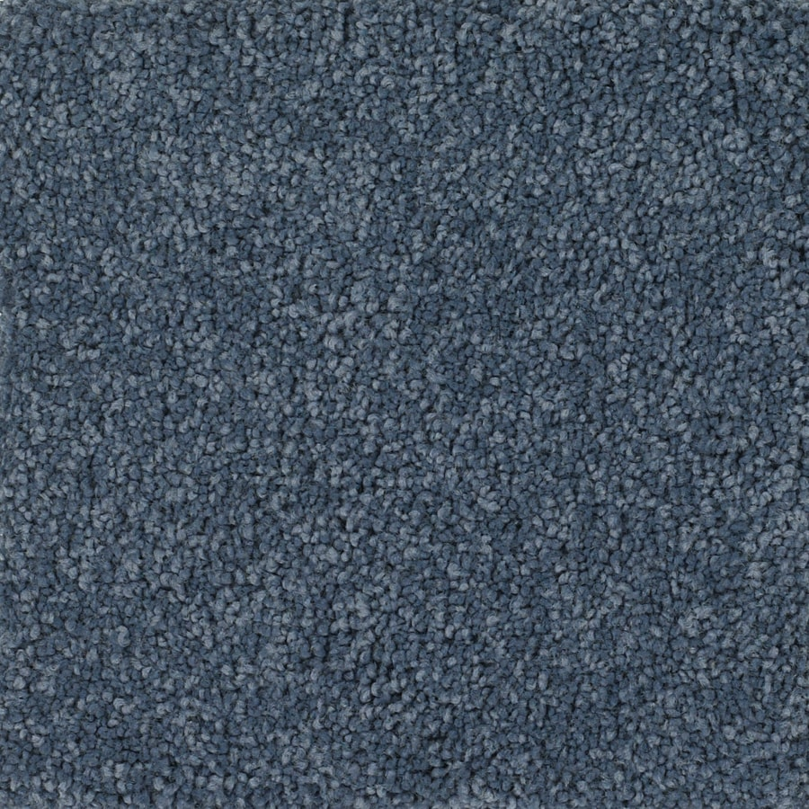 Dixie Group TruSoft Pomadour Blue Textured Indoor Carpet