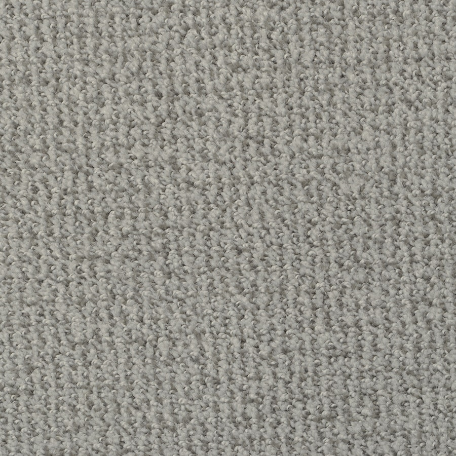 STAINMASTER Active Family Morning Jewel Gray Ice Cut and Loop Indoor Carpet