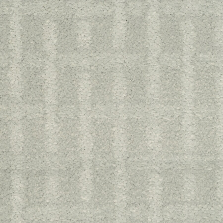 STAINMASTER TruSoft Chateau Avalon Artic Sky Cut and Loop Indoor Carpet