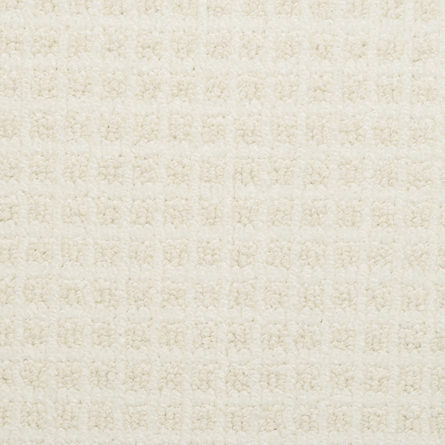 STAINMASTER Medford Ash White Rectangular Indoor Tufted Area Rug (Common: 6 x 9; Actual: 72-in W x 108-in L)