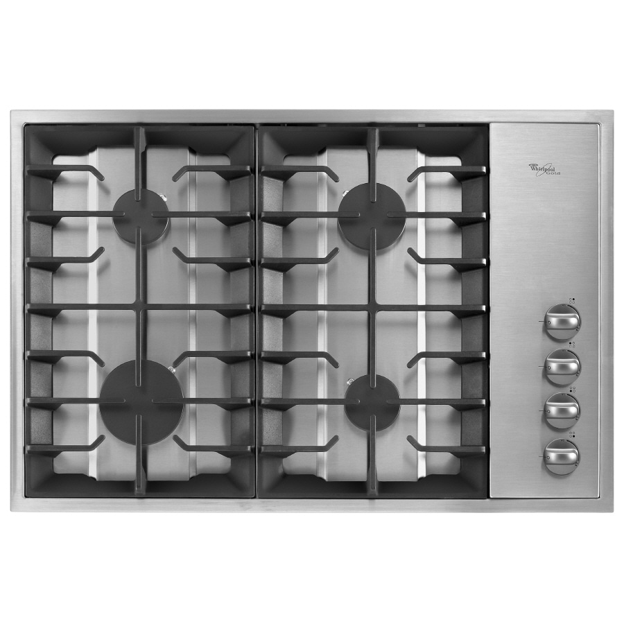 Whirlpool 30-inch 4-Burner Gas Cooktop (Stainless Steel)