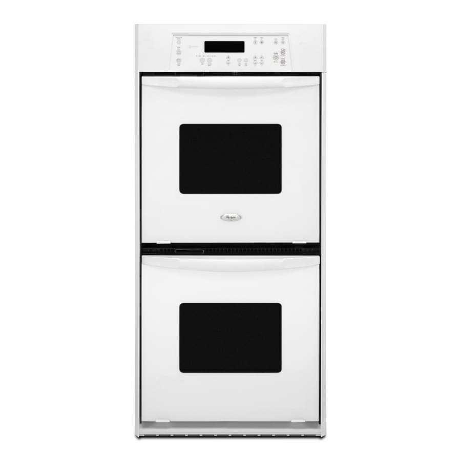 Whirlpool 24-in Self-Cleaning Double Electric Wall Oven (White)