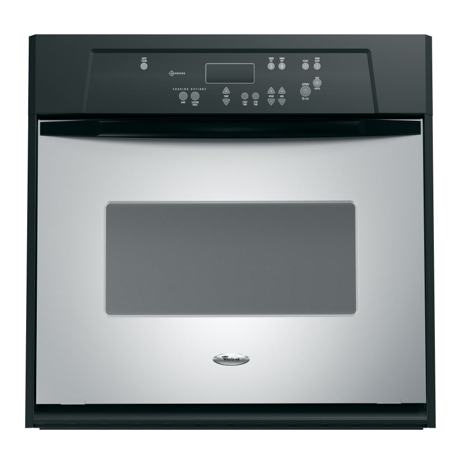 Whirlpool Self-Cleaning Single Electric Wall Oven (Stainless Steel) (Common: 24-in; Actual 23.75-in)