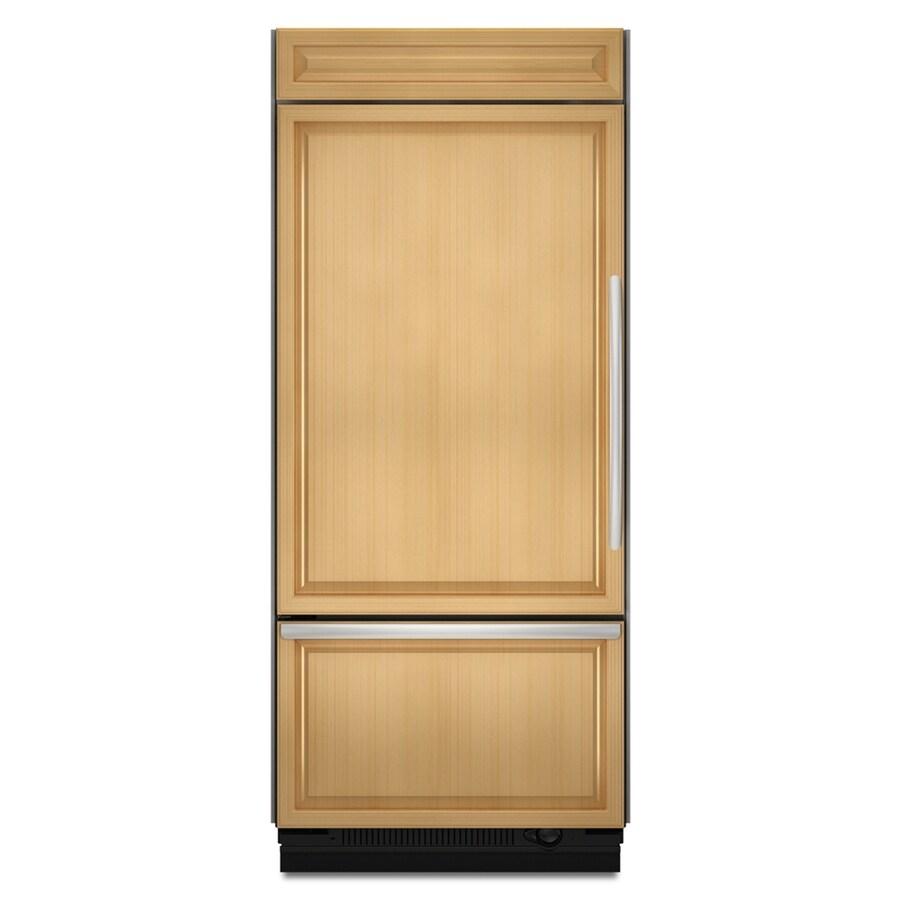 KitchenAid N/A 35.25-in Bottom Freezer Built-In Refrigerator Single (Brushed Aluminum Trim/Panel-Ready) ENERGY STAR