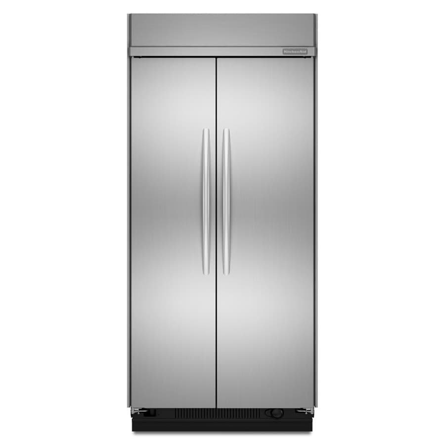 KitchenAid Architect II 25.3-cu ft Built-In Side-by-Side Refrigerator with Single Ice Maker (Stainless Steel)