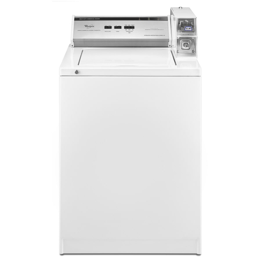 Whirlpool 3.2-cu ft Coin-Operated Top Load High-Efficiency Commercial Washer (White)