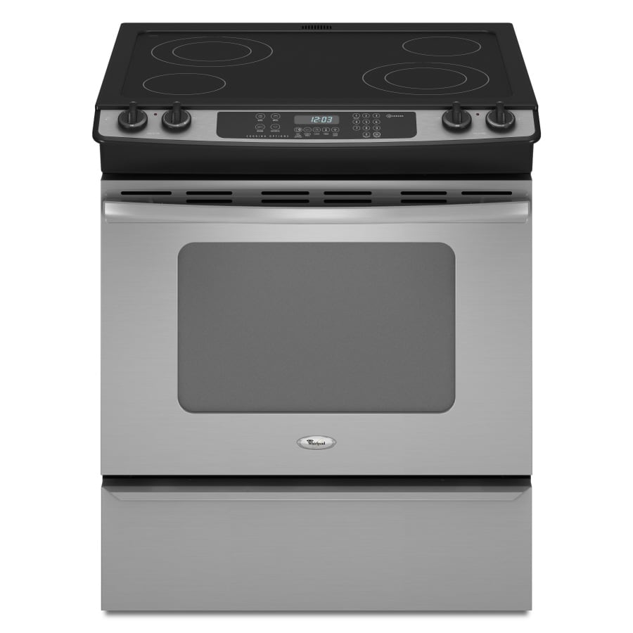 Whirlpool Gold Smooth Surface Slide-In Electric Range (Stainless Steel) (Common: 30-in; Actual 29.875-in)