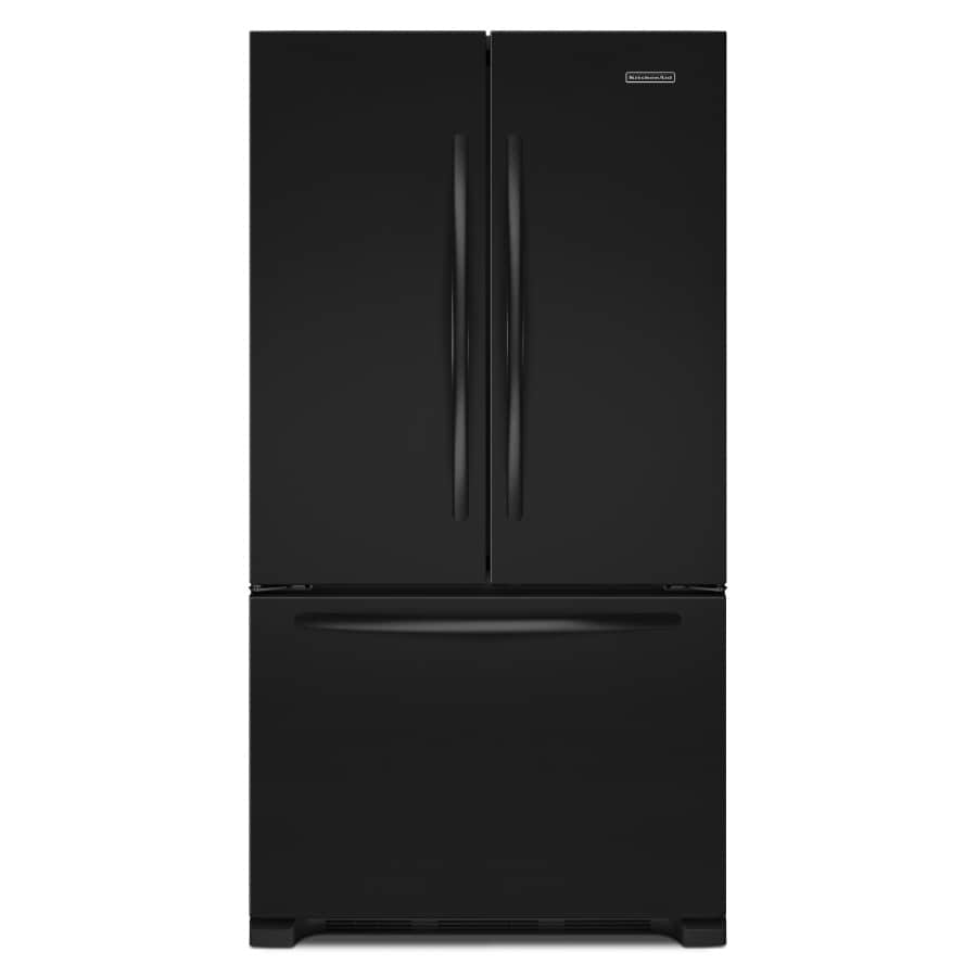 Shop kitchenaid architect ii 21 8 cu ft counter depth french door refrigerator with single ice - Kitchenaid architect counter depth refrigerator ...