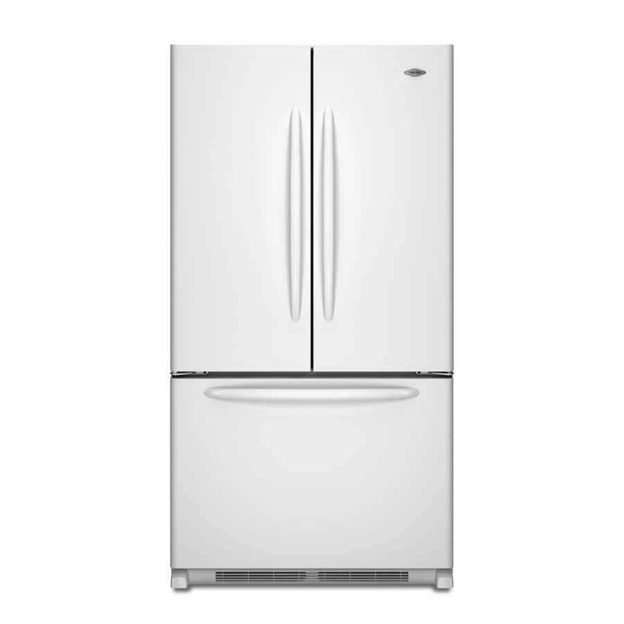 Maytag 24.8-cu ft French Door Refrigerator with Single Ice Maker (White) ENERGY STAR